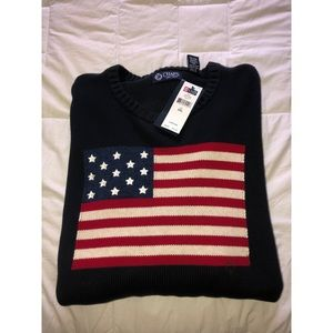 CHAPS AMERICAN FLAG SWEATER